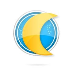 moon logo vector image vector image