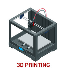 New generation of 3d printing machine printing a vector