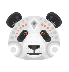 panda head logo decorative emblem vector image vector image