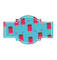 Popsicle label design vector