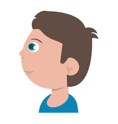 Profile character boy son image vector