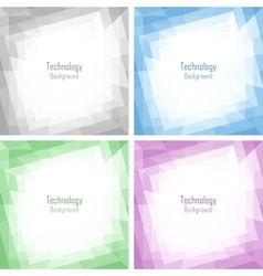 Set of Light Abstract Colorful Technology Frames vector image vector image