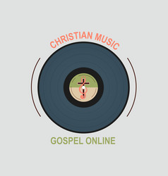 studio christian music vector image