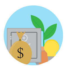Successful capitalization funds icon vector
