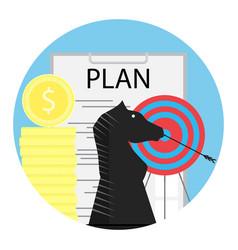 Tactics financial planning vector