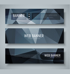 Template banners with transparent design elements vector