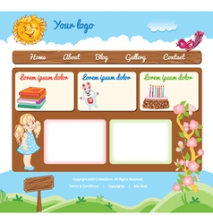 Template for kid web site vector image