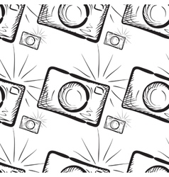 Vintage photo cameras seamless pattern vector