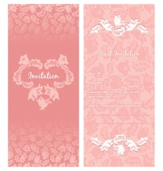 wedding invitation ornamentflowers vector image vector image