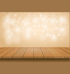 wooden board top on transparent background vector image vector image