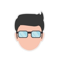 Man glasses male avatar person people icon vector