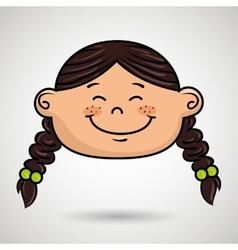 Cartoon childhood face icon vector