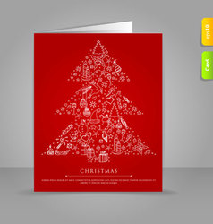 Xmas card tree vector
