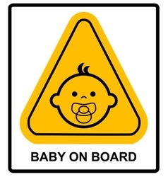 Baby on board sign on white background vector image