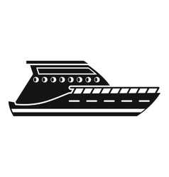 Yacht icon simple style vector