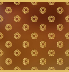 background with seamless pattern decorated vector image
