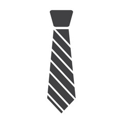 tie icon isolated on white background tie sign vector image