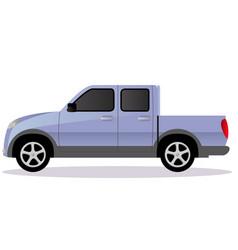 Pickup track car body type vector