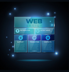 Website template design technology background vector