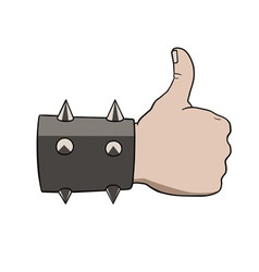 Brutal thumbs up vector