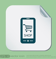 Shopping cart online store vector
