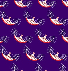 Smile cat seamless pattern background vector