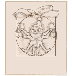 Elf carrying christmas presents cartoon vector