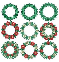 Decorative plant frames vector image