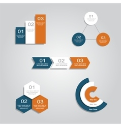 Set of infographics design templates vector