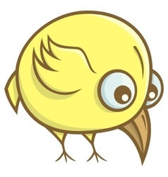 Yellow bird cartoon vector