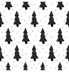 Pine trees pattern vector