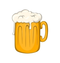 Mug with beer icon cartoon style vector