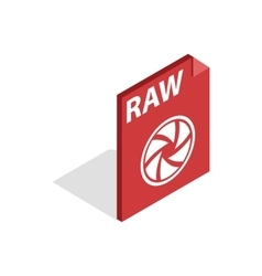 Raw format icon isometric 3d style vector