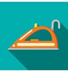 Orange iron icon in flat style vector