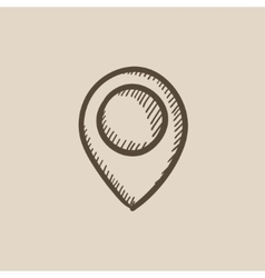 Map pointer sketch icon vector