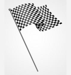 a racing flag vector image