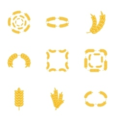 Agricultural symbols icons set cartoon style vector image vector image