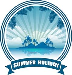 beach banner vector image