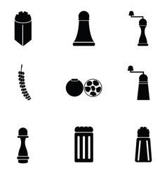 black pepper icon set vector image vector image