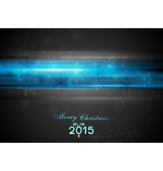 Blue glowing light Christmas background vector image