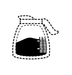 Coffee jar sticker vector