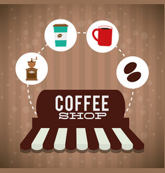 Coffee shop marketing store poster vector
