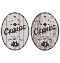 Cognac labels vector