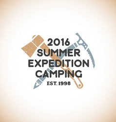 color expedition camping sign template vector image
