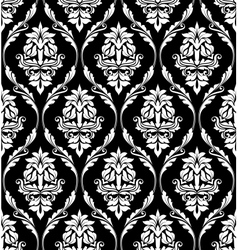 Damask-style design of floral arabesques vector image