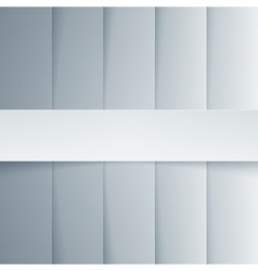 Gray and white paper rectangle shapes background vector image vector image
