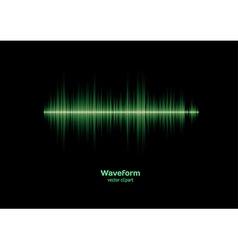 Green waveform vector