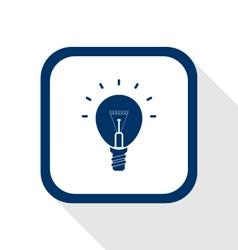 Idea bulb flat icon vector