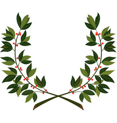 Laurel wreath - symbol of victory and achievement vector
