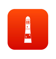 lighthouse icon digital red vector image
